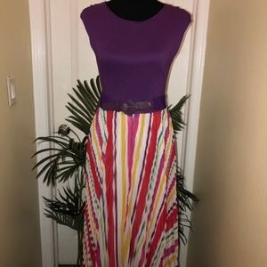 Alice + Olivia Belted Maxi Dress